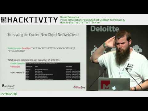 Daniel Bohannon – Invoke-Obfuscation: PowerShell obFUsk8tion