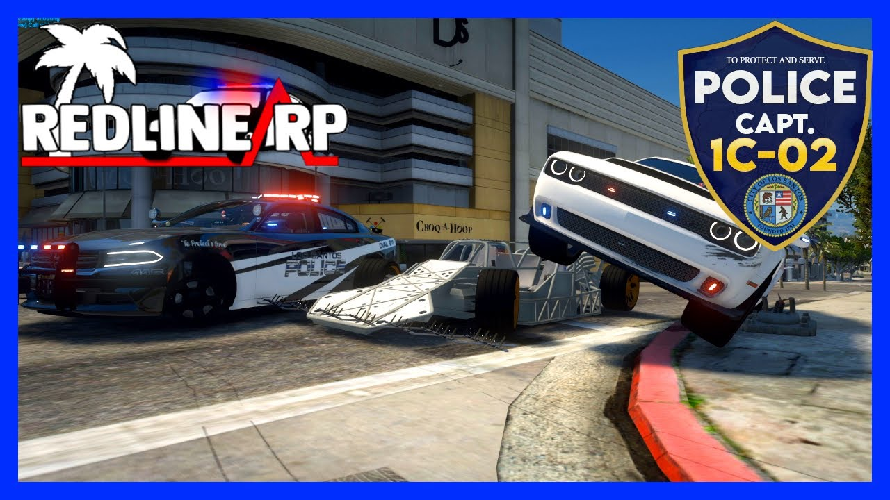 GTA 5 Roleplay - RedlineRP - Spike Strip RAMP CAR !  #110