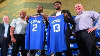 LA Clippers' first press conference with Kawhi Leonard and Paul George - July 24, 2019