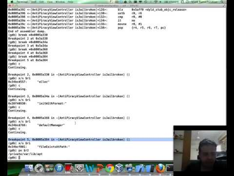 SecurityTube GNU Debugger Expert: Part 13: iPhone Application Reversing and Cracking with GDB