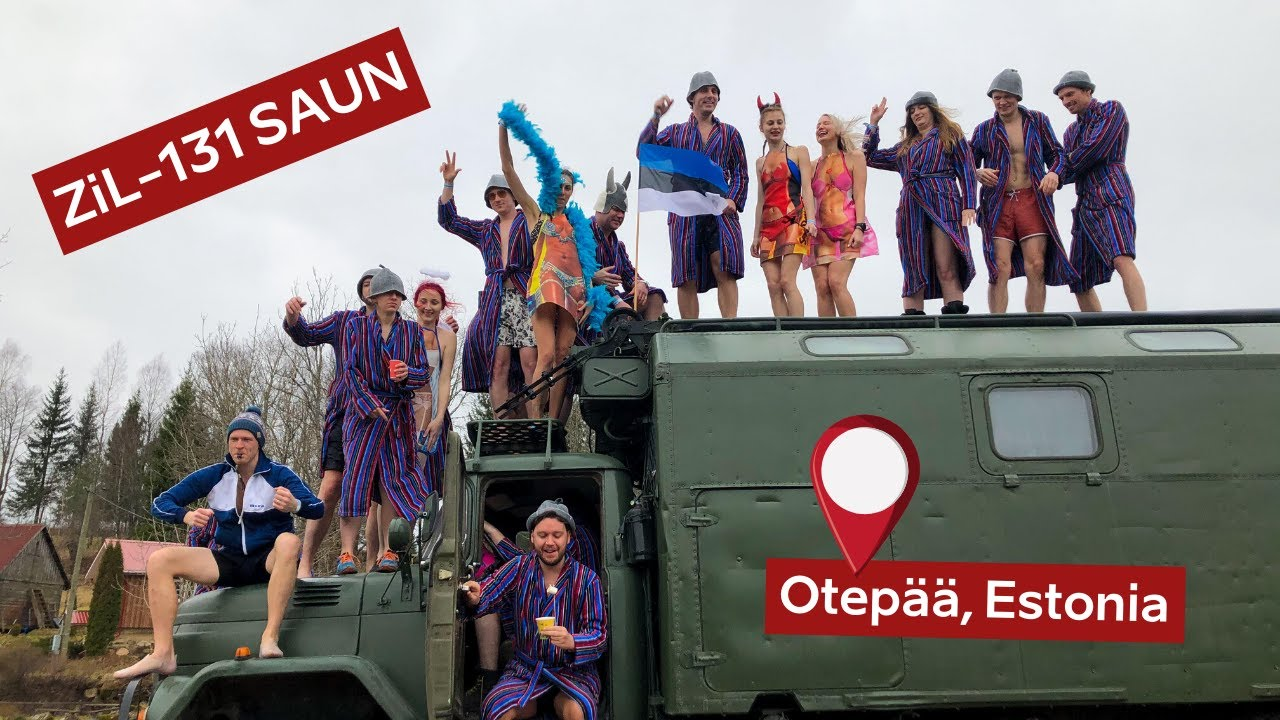 We took our Soviet Army truck to Estonia's European Sauna Marathon