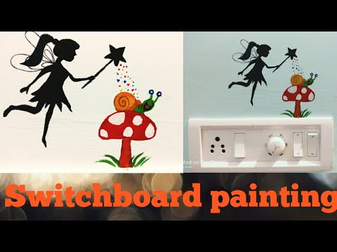 fairy-tail-switchboard-painting#switchboard-painting-ideas-for-kids-room#diy-wall-decor
