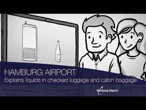 Hamburg Airport explains the security regulations for liquids in checked luggage and cabin baggage.