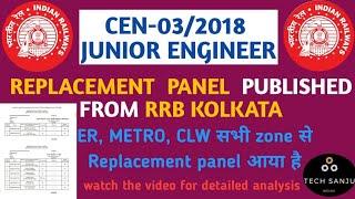 Full Analysis, JE, Replacement Panel, RRB KOLKATA