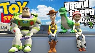 Моди для GTA 5 - Історія іграшок мод ж/ Базз, Вуді, Джессі і Рекс (моди для GTA 5 геймплей)