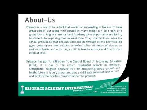 Saigrace Academy International: Home of Discipline