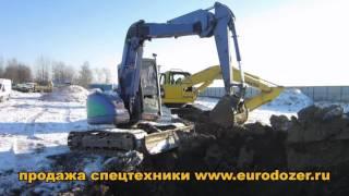 Excavator with articulated boom HITACHI EX75 / Миниэкскаватор с ломающейся стрелой