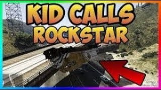 KID CALLS ROCKSTAR ON ME!! GONE WRONG! (GTA 5 MODS)