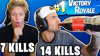 1 KILL ON FORTNITE = 1 SHOT OF ALCOHOL! (DRUNK FORTNITE WIN!)