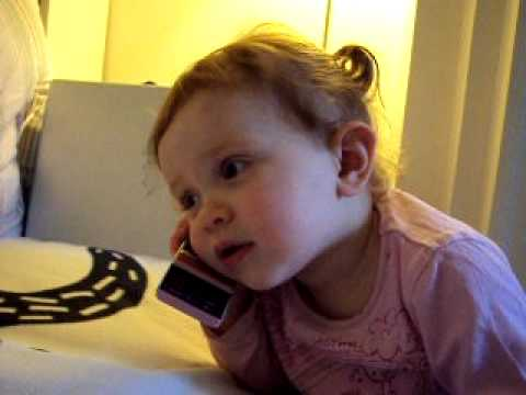 20 Month Old Charlize Talking On The Phone To Her Daddy