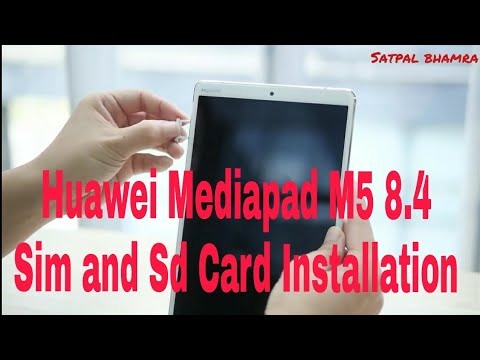 Huawei Mediapad M5  : How To Insert The SIM Card ? | Single Sim And Sd Card ( 2018 )