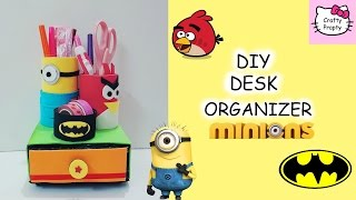 DIY Minion pencil holder/DIY Desk Organizer/DIY Angry Bird Pencil Holder