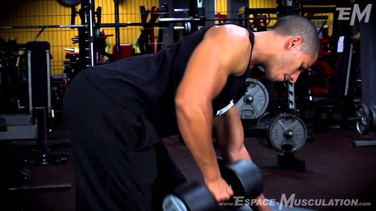 Rowing Haltère - Exercice de Musculation Dos - YouTube e8518975da7