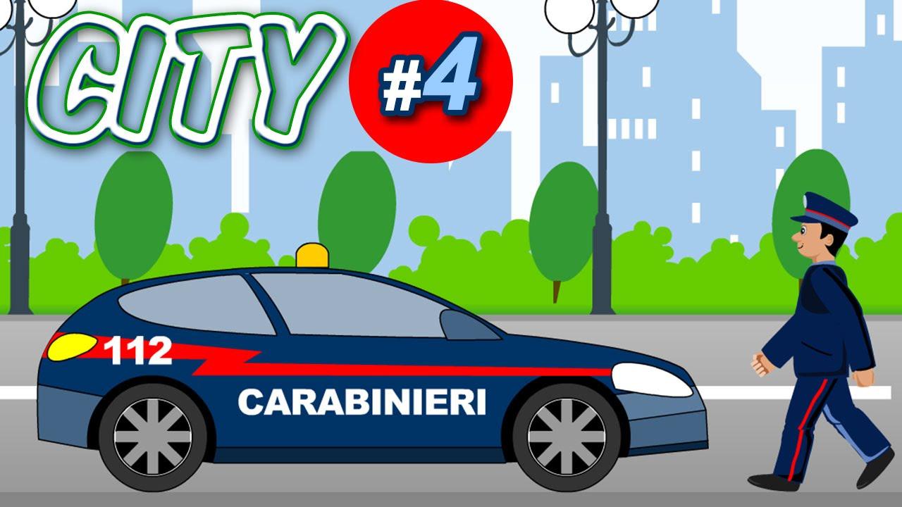 Coloriamo tante macchine , carabinieri , camioncino ...