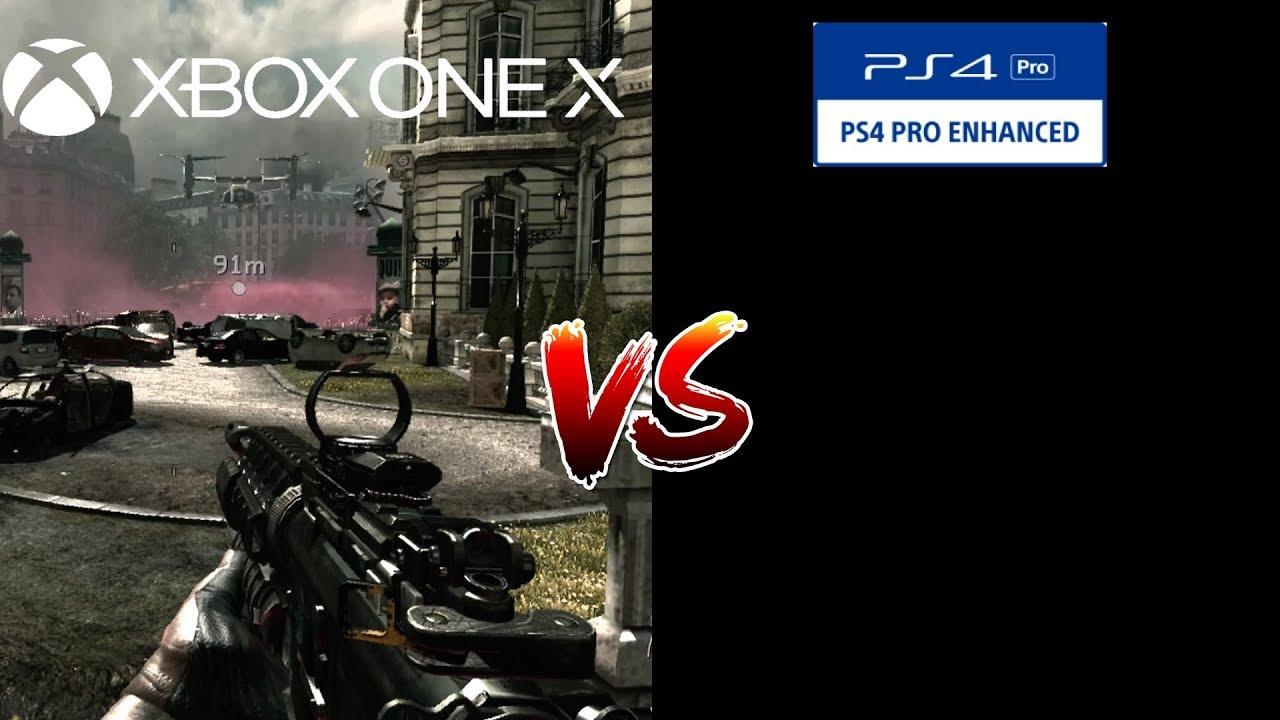 Call Of Duty Modern Warfare 3 Backward Compatibility Comparison (Xbox One  X) Vs (PS4 Pro)