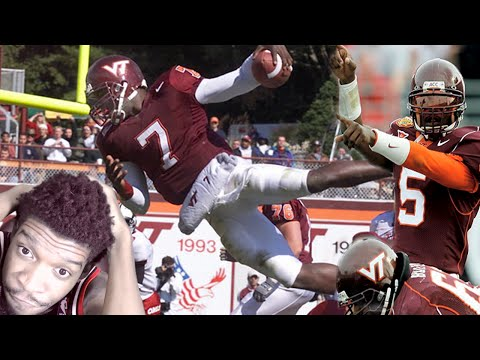 THE GREATEST QB OF ALL TIME!! MICHAEL VICK COLLEGE HIGHLIGHTS REACTION!