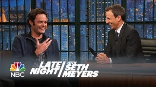 Bill Hader Reveals All the Things Seth Taught Him at SNL - Late Night with Seth Meyers