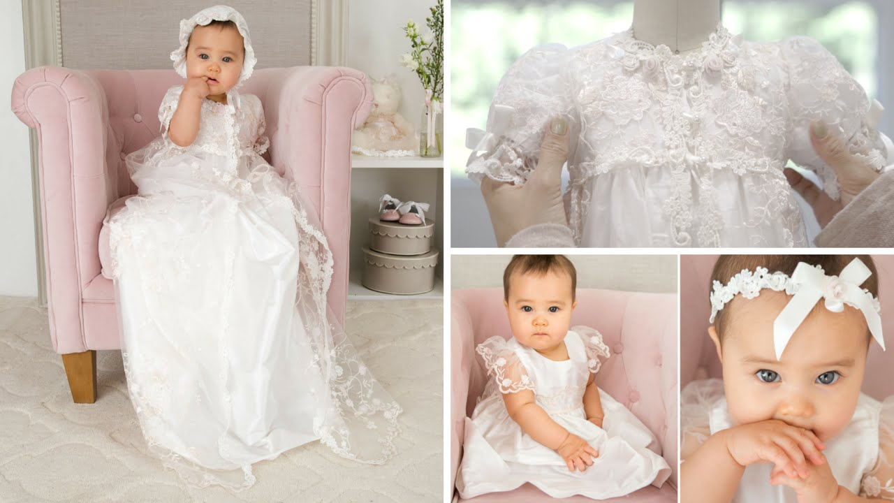 Closeup of the Scarlett Christening Gown (4K) - YouTube