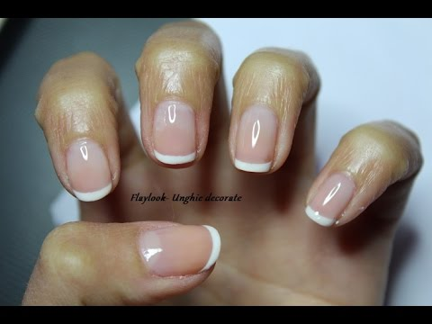 Video tutorial 100 Nail art semplice con french bianca per unghie corte ,  By Flaylook