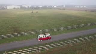 0014- 1974 Red and White Volkswagen Bus Kombi Custom Split 23 Window