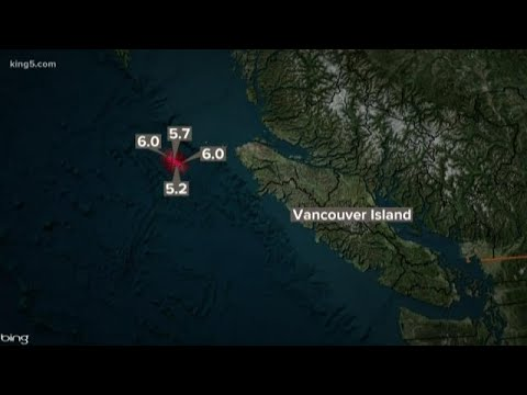 Magnitude 6.0 earthquakes hit near Vancouver Island