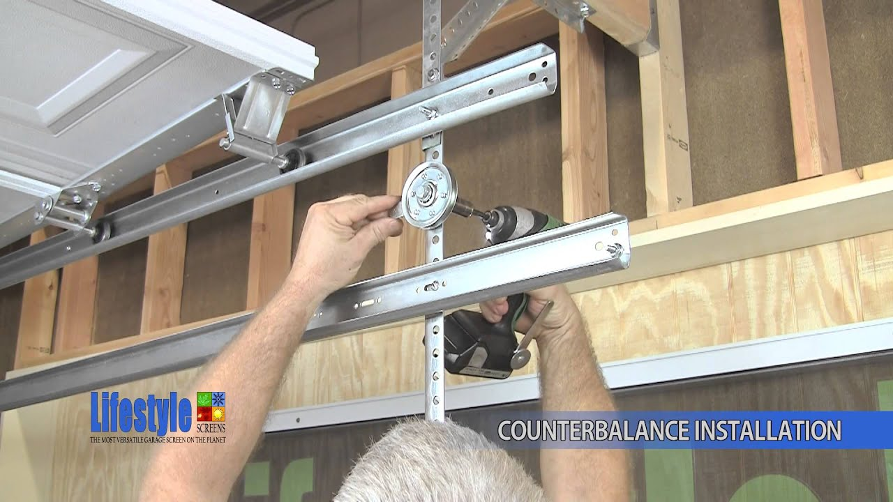roll up garage door screenAssembling the Springs  Counterbalance system Lifestyle Screens