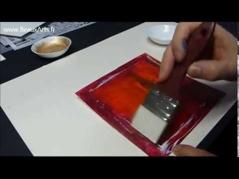 cours peinture acrylique 9 tutoriel pigments sur toile. Black Bedroom Furniture Sets. Home Design Ideas