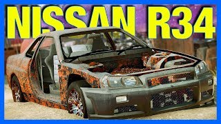 Rescuing an Abandonded Nissan Skyline R34 in Car Mechanic Simulator