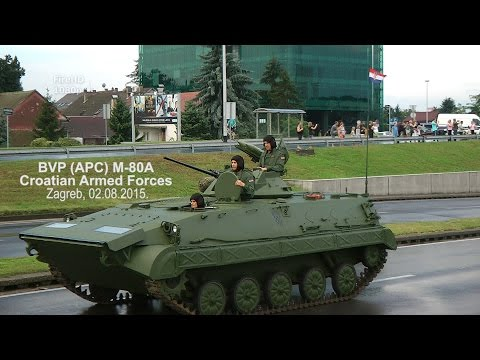 BVP (APC) M-80A, Croatian Armed Forces (Zagreb, 02.08.2015.-mimohod)