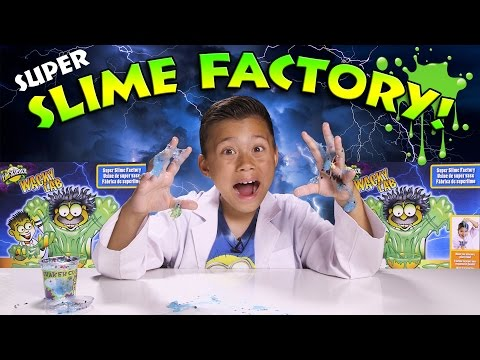 SUPER SLIME FACTORY! Grow Snow In Your Hands!  MESSY!