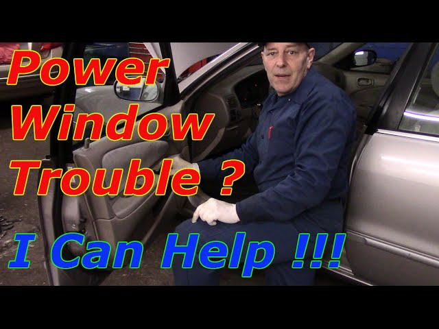 How To Diagnose And Repair Power Windows On A Toyota Corolla Youtube