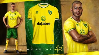𝕀𝕥'𝕤 𝕒 𝕨𝕠𝕣𝕜 𝕠𝕗 𝕒𝕣𝕥... 🎨 | Norwich City reveal 2020-21 Errea Home Kit