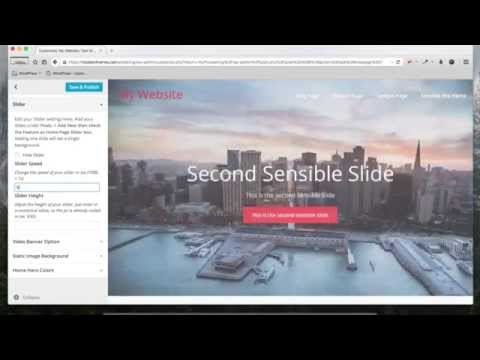 Sensible Pro 2 0 - Slider Tutorial - Modern Themes