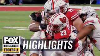 Wisconsin running back jonathan taylor pumps up his badgers ahead of their battle with ohio state for the big ten championship. rushed 148 yards ...