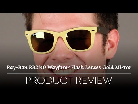 ray ban unisex rb4105 folding wayfarer sunglasses  ray ban rb4105 folding wayfarer flash lenses gold mirror review youtube