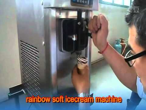 Rain Bow Or Air Pump Soft Ice Cream Machine