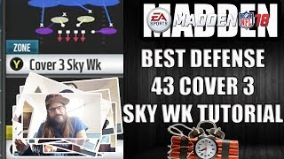 MADDEN 18 COVER 3 SKY WK TUTORIAL - BEST DEFENSE