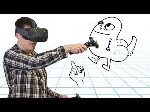 HOW TO DRAW IN VR - Tilt Brush Gameplay