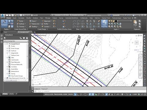 Creating and Manipulating Civil 3D Sample Lines - Civil