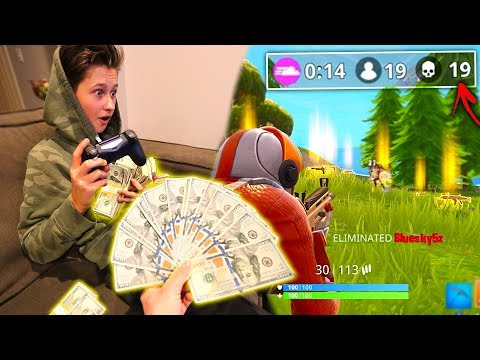 I Gave My Little Brother $1000+ For Every Kill In Fortnite: Battle Royale! | David Vlas