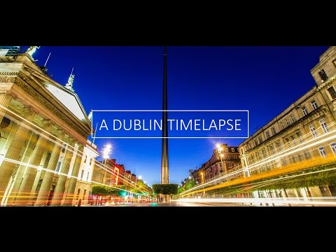 A Dublin Time Lapse At Night HD 1080p