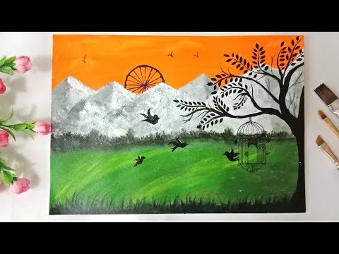 Independence Day Painting L Independence Day Drawing L 15 August Drawing