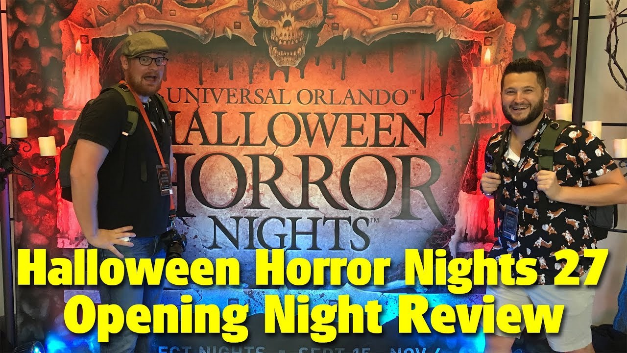 halloween horror nights 27 opening night review universal studios florida