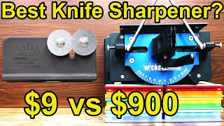 $9 vs $900 Knife Sharpener? Let's find out! Wicked Edge, Lansky, Edge Pro Apex, Spyderco, Rada