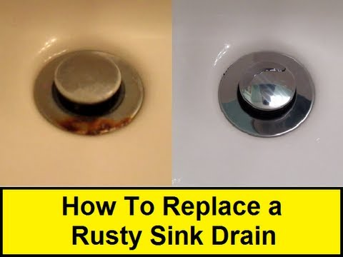 How to replace a rusty sink drain youtube for Replacing bathroom drain pipe