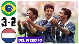 Brazil vs Netherlands 3-2, Quarter Final World Cup 1994- All Goals and Highlights