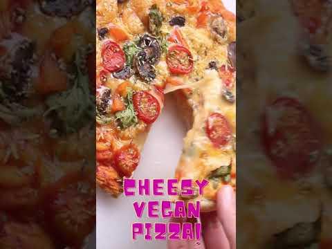 Cheesy Vegan Pizza Youtube Short – Youtube #Shorts