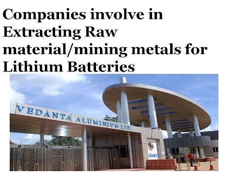 Electric Vehicles Stocks: Companies involve in Extracting Raw material for Lithium Batteries