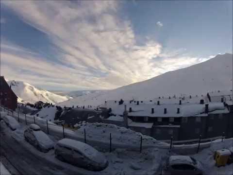 Rising Sun Over Mountains In Andorra, Pas De La Casa Timelapse