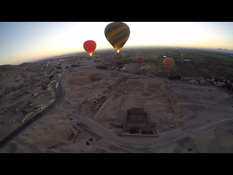 Luxor Hot Balloon Ride over amazing ancient Egyptian Temples